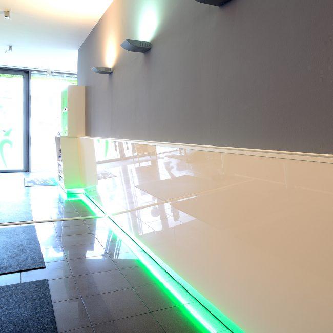 Beleuchtung eines Eingangsbereichs