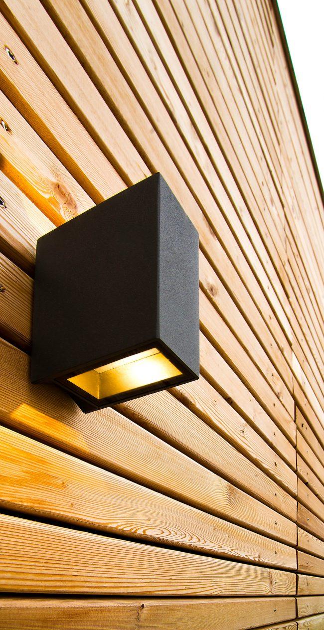 Außenbeleuchtung für eine Garage