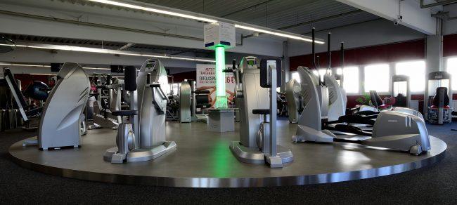 Plattform für Fitnessparcour