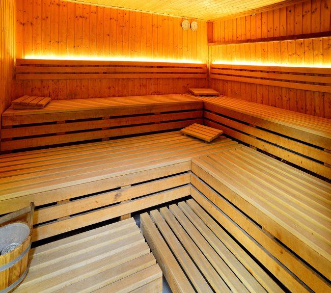 Innenleben einer Sauna